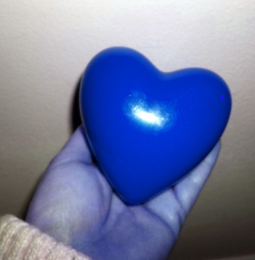 solid blue heart